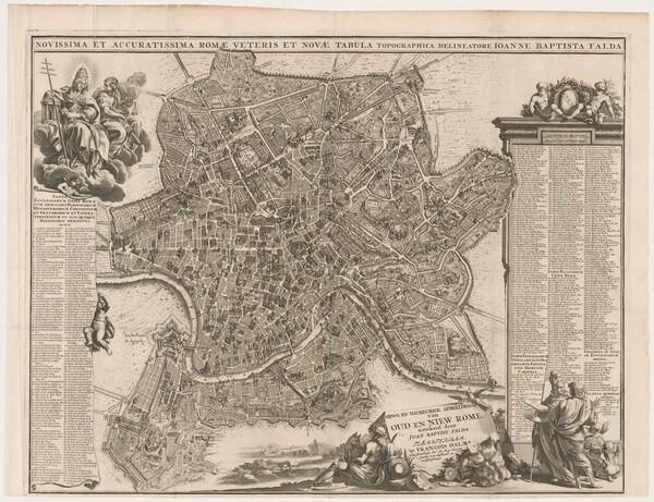 Novissima et accuratissima Romae veteris et novae tabula topographica delineatore