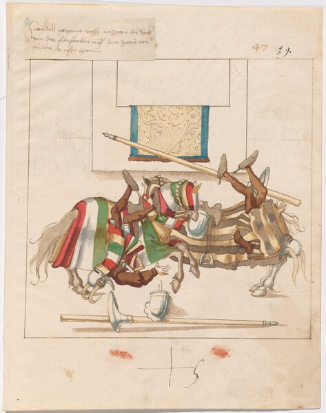 Freydal, The Book of Jousts and Tournaments of Emperor Maximilian I: Combats on Horseback (Jousts)(Volume I): Plate 44