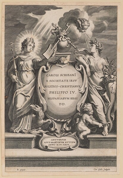 Title Page for Carolus Scribani, Politico-Christianus