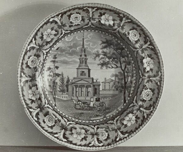 Plate - Octagon Church, Boston
