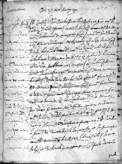 ASR, TNC, uff. 11, 1599, pt. 1, vol. 41, fol. 657r