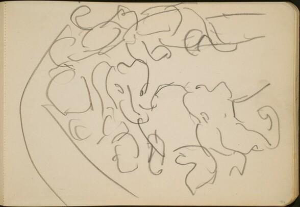 Zirkusnummer mit Elefanten (Elephants Performing) [p. 77]
