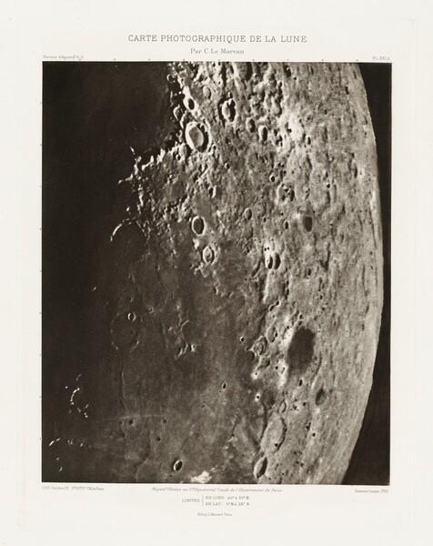 Carte photographique de la lune, planche XXI.A (Photographic Chart of the Moon, plate XXI.A)