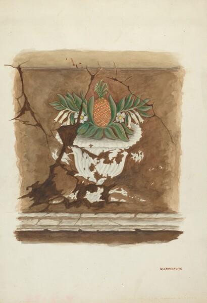 Wall Painting - Pineapple Motif