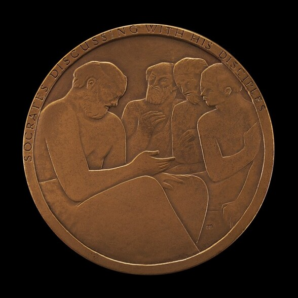 Socrates Discussing with His Disciples [obverse]