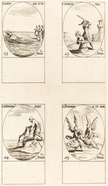 St. Clement; St. Lucretia; St. Chrysogonus; St. Catharine