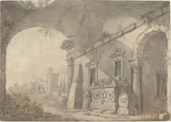 Roman Ruins with a Sepulchre