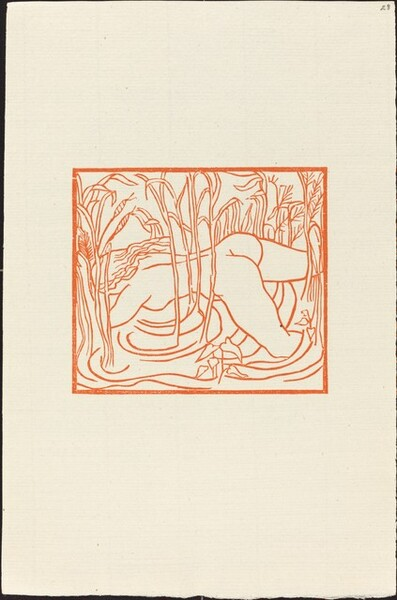 Second Book: Syrinx Disappears in a Grove of Reeds (Syringe, poursuivie par Pan, se jette dans un marais et disparait dans les roseaux)