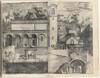 View of the Quadrant: the Main Door, the Square, the Church and the Loggia of the Monastery of the Monte della Vernia (Prospettiva dell'ingresso della prima porta, con la Piazza, Chiesa, & Loggie del Monastero del Monte della Vernia, come sta quest'Anno MDCXII) [plate D]