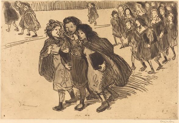 Girls Coming from School (Gamines sortant de l