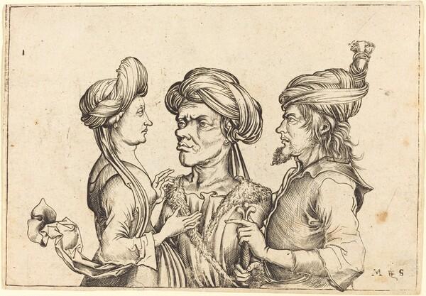 Three Oriental Figures