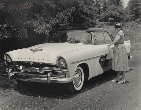 Woman with Plymouth Belvedere, Louisville, Kentucky