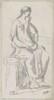 Classical Sculpture of a Pensive Woman