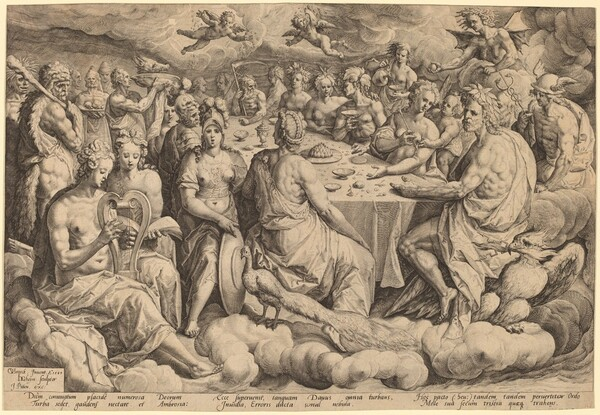 Banquet of the Gods at the Wedding of Peleus and Thetis
