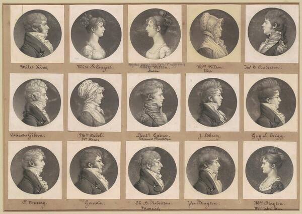 Saint-Mémin Collection of Portraits, Group 44