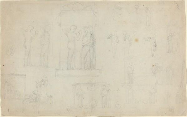 Sheet of Sketches [recto and verso]