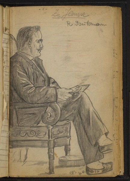 Man Reading in a Lounge Chair