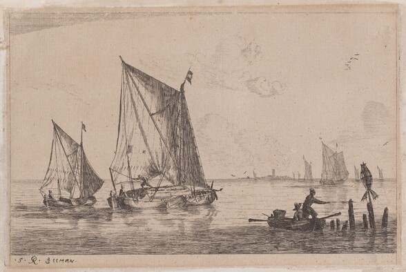 A Duinopschuit, a Smaller Sailing Boat, and a Rowboat