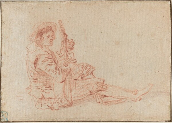 Seated Guitarist [recto]