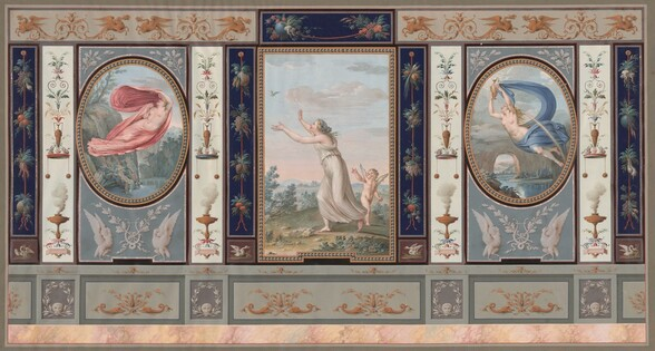 Elaborate Wall Decoration with Endymion and Hebe