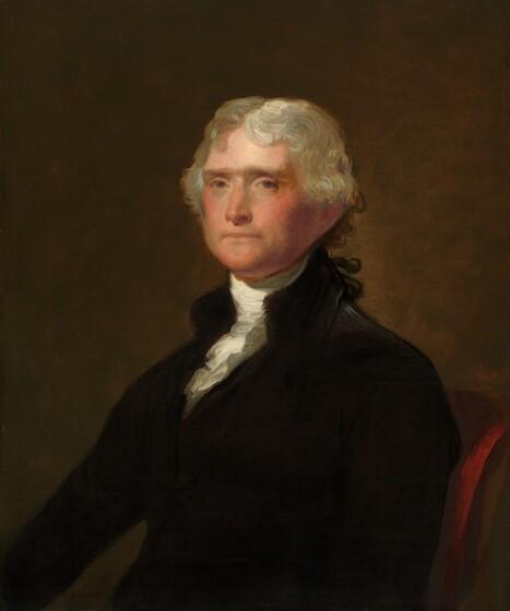George Peter Alexander Healy, after Gilbert Stuart, Thomas Jefferson, 1848/1879