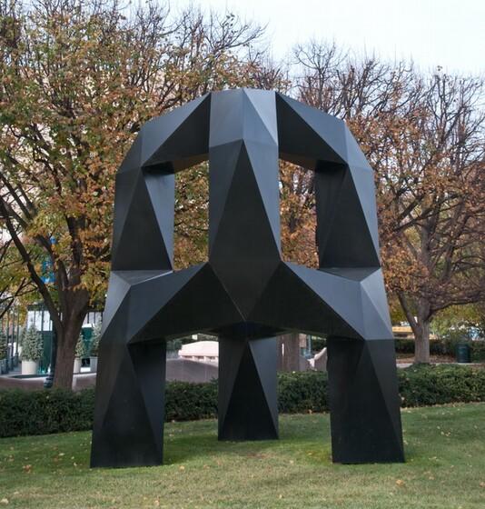 Tony Smith, Moondog, model 1964, fabricated 1998-1999