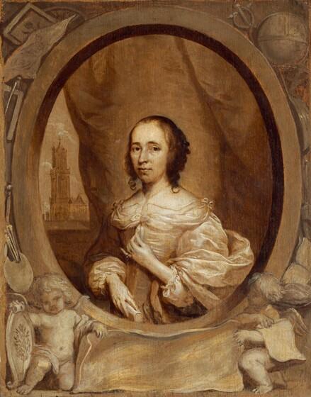 Cornelis Jonson van Ceulen, Anna Maria van Schurman, 1657