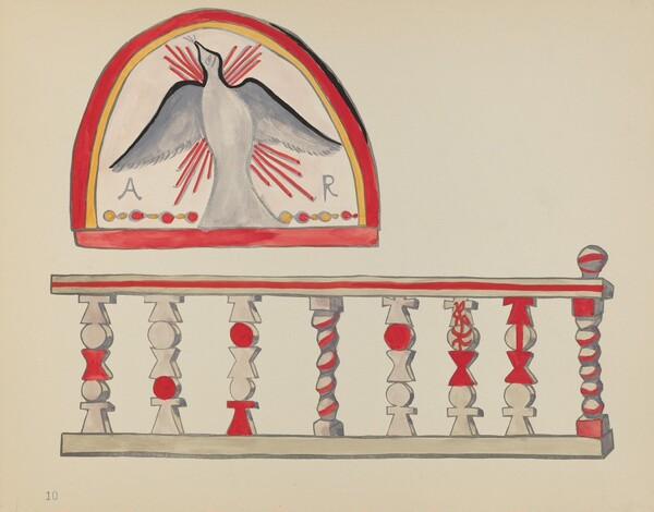 Plate 10: Holy Ghost Lunette: From Portfolio Spanish Colonial Designs of New Mexico
