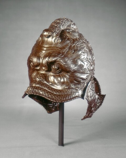 Helmet (burgonet) in the Form of a Dolphin Mask