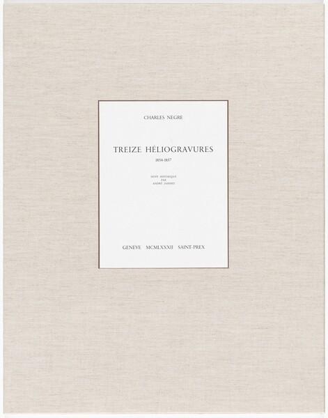 Treize Héliogravures (Thirteen Heliogravures)