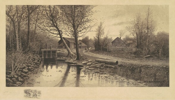 Untitled (Pastorale Scene with Sawmill)