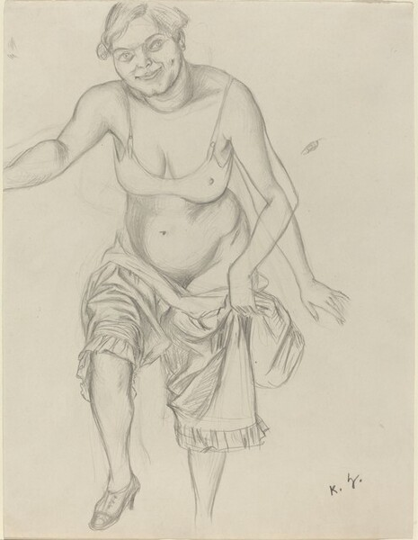 A Woman Undressing