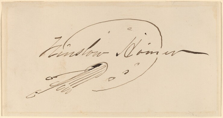 Winslow Homer, Signature in Palette