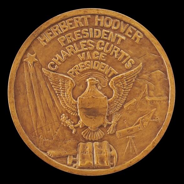 Herbert Hoover Inaugural Medal [reverse]