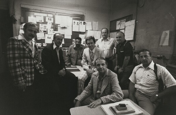 The 9th Precinct Investigation Unit with Lieutenant Edward Manet. This is the police station used in the TV show Kojak, New York City