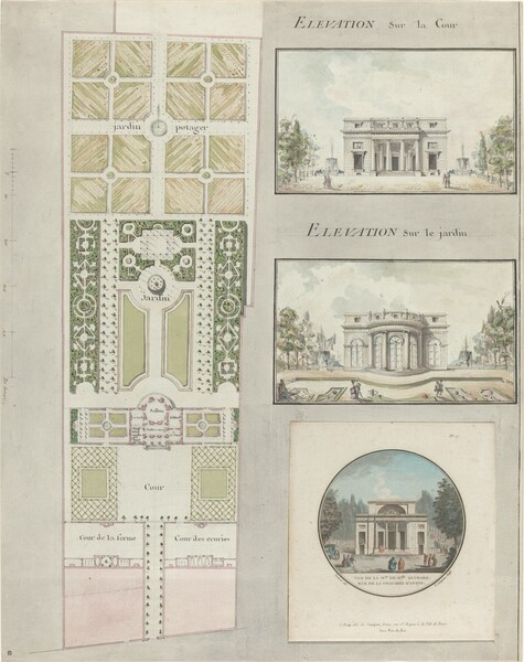 Project for the House and Gardens of Mlle. Guimard