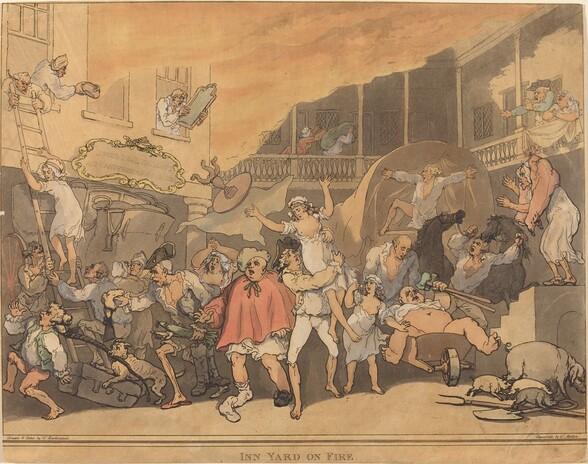 The Inn Yard on Fire