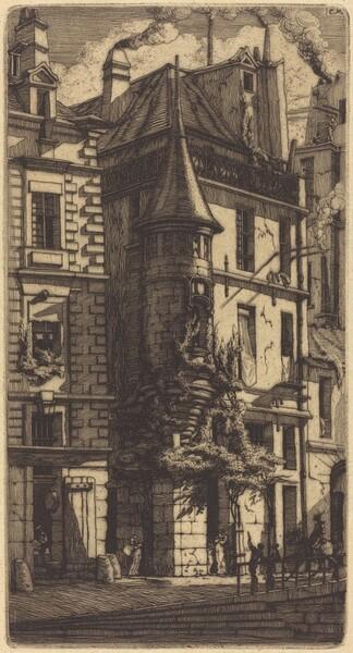Tourelle de la Rue de la Tixéranderie, Paris (House with a Turret, Weavers