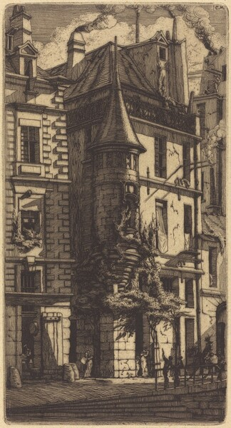 Tourelle de la Rue de la Tixéranderie, Paris (House with a Turret, Weavers