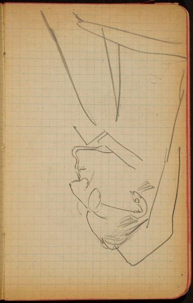 Weibliche Bildnisstudie im Profil (Female Portrait Study, Profile) [p. 31]