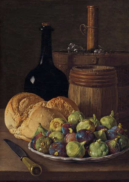 Still Life with Figs and Bread
