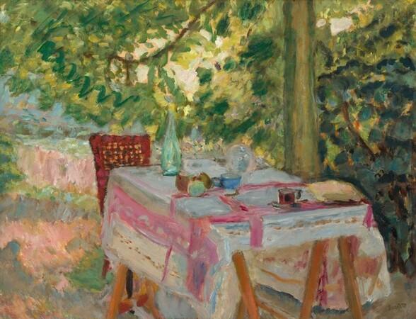 Table Set in a Garden