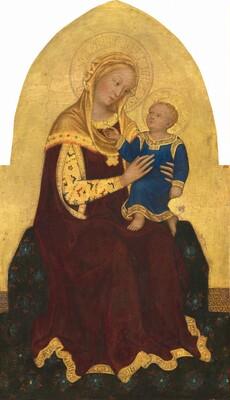 Gentile da Fabriano, Madonna and Child Enthroned, c. 1420c. 1420