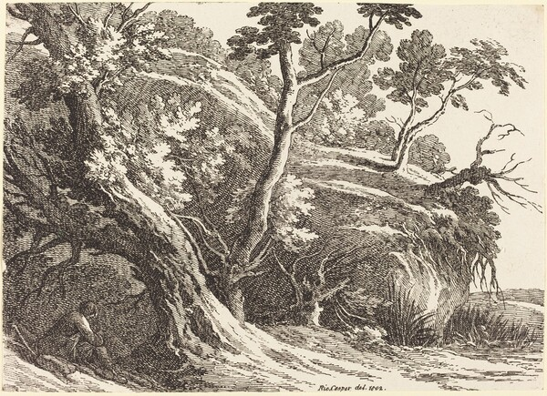 Landscape with Large Trees