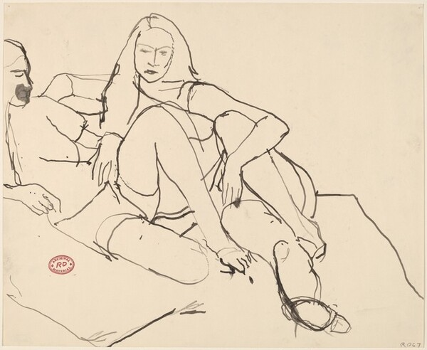 Untitled [two reclining women]
