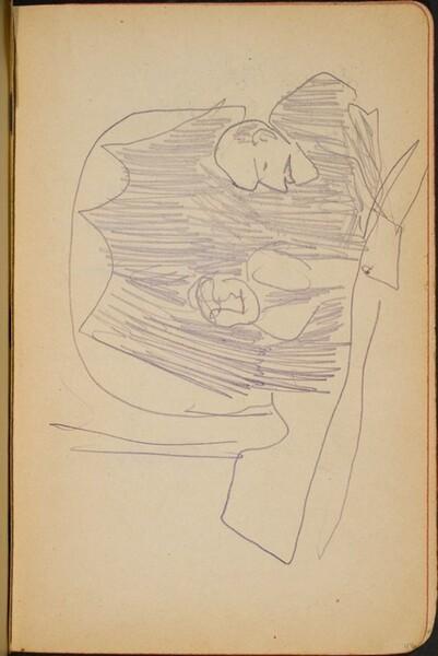 zwei Figuren in einer Loge (Two People in Box Seats) [p. 47]