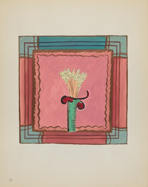 Plate 16: Wheat Sheaf, Altar Panel: From Portfolio Spanish Colonial Designs of New Mexico