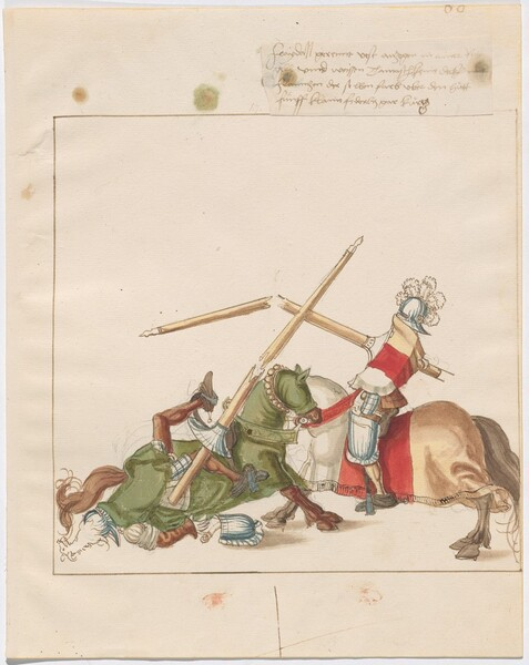 Freydal, The Book of Jousts and Tournaments of Emperor Maximilian I: Combats on Horseback (Jousts)(Volume I): Plate 57