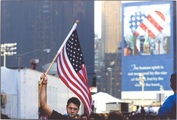 First Anniversary Memorial for 9-11 / NYC / 09 Sept. 2002