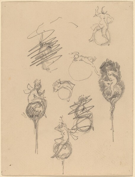 Studies for Jewelry Designs [recto]